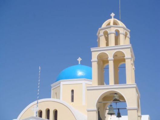 Igreja Cupula Azul Santorini Grecia
